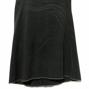 Grey embroidered Hi Lo skirt Size 2 (A)